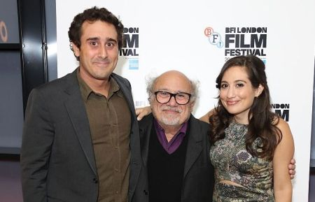 "Jake DeVito, Danny, and Lucy DeVito attend the ""Curmudgeons"" screening during the 60th BFI London Film Festival. Image Source: Getty Images"