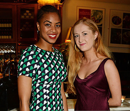 """Katharine with Racheal Ofori at the press night for The Kenneth Branagh Theatre Company's """"Romeo And Juliet"""" at The National Cafe on May 25, 2016, in London, England. Source: Gettyimages"""